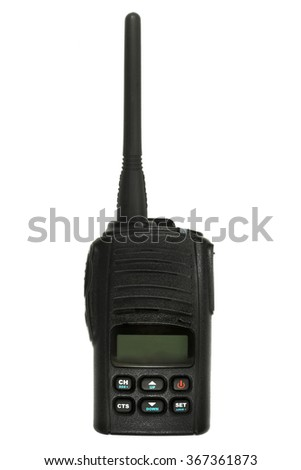 CB Radio isolated on the white background - stock photo