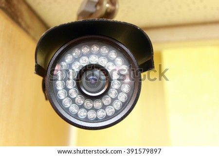cctv security cameras inside the meeting room, with the appearance of the close - stock photo
