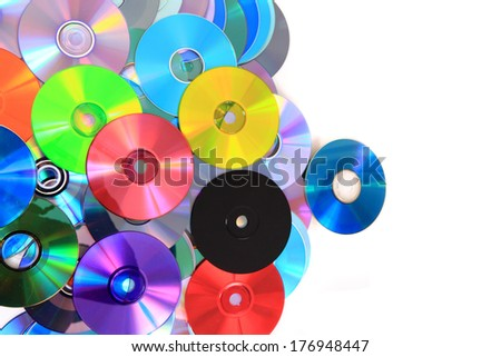 CD and dvd color background - stock photo
