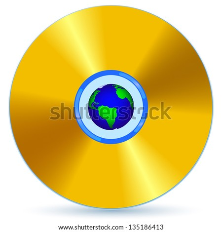 CD and Globe for various design. - stock photo