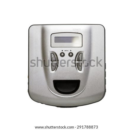 CD audio player on white isolate with clipping path. - stock photo
