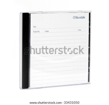 cd case isolated on a white background - stock photo