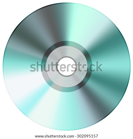 CD disc green - stock photo