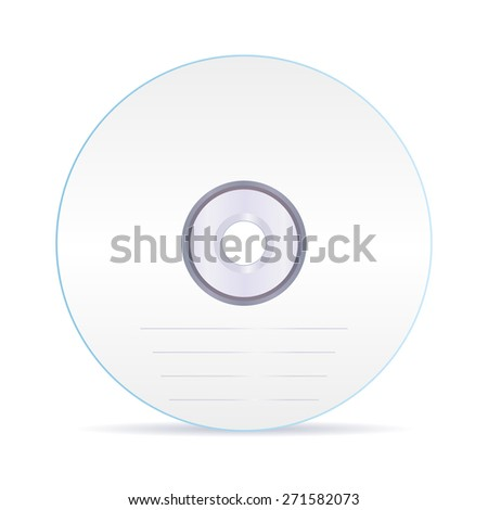 CD disc . Isolated on white background. Raster version - stock photo