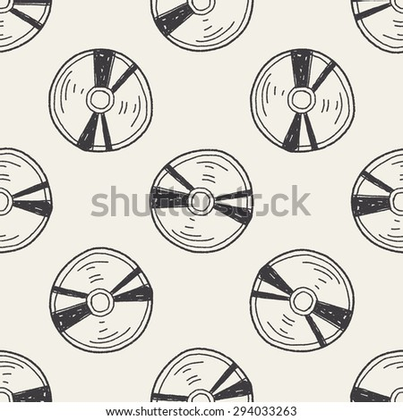 cd doodle seamless pattern background - stock photo