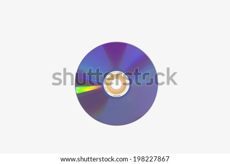 cd dvd compact disc no shadow - stock photo