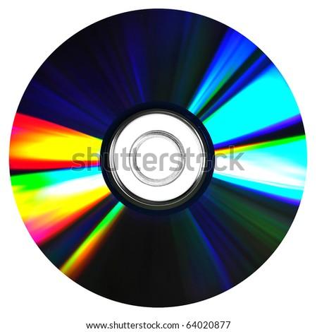 CD, DVD on white background - stock photo