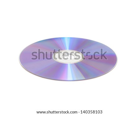 cd isolated over white - stock photo