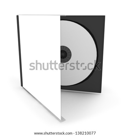 cd or dvd case with a disc (3d render) - stock photo