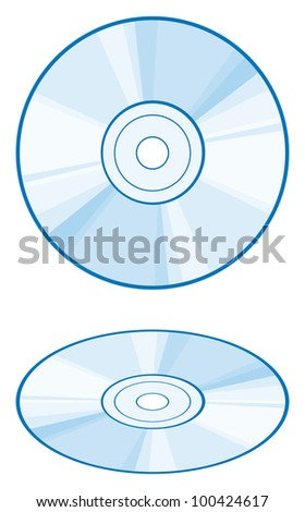 CD or DVD disc - stock photo