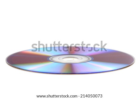 CD or DVD disc isolated on the white background - stock photo