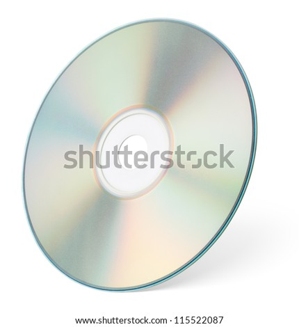 CD or DVD isolated on white background with clipping path - stock photo