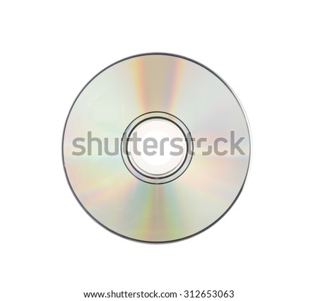 CD rom Isolated on white - stock photo