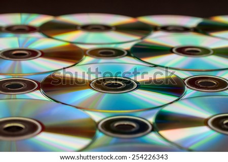 CDs and DVDs - stock photo