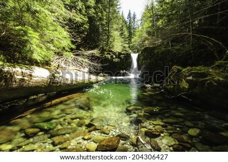 Cedar Creek Waterfalls - stock photo
