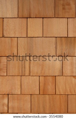 Cedar Shingles Background - stock photo