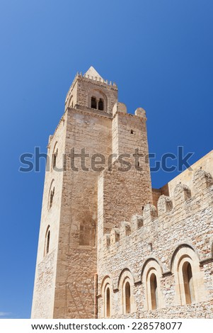cefal�¹ cathedral - stock photo