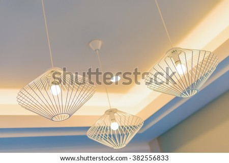 Ceiling lamps for interior decoration - stock photo