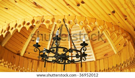 Ceiling of house in the turkish resort. - stock photo