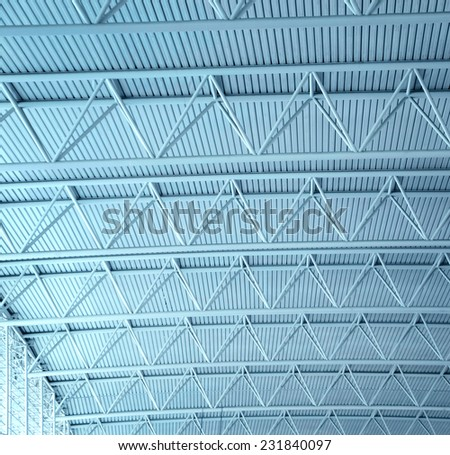 ceiling structure at the airport   - stock photo