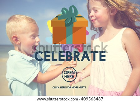 Celebrate Anniversary Enjoyment Event Happiness Concept - stock photo
