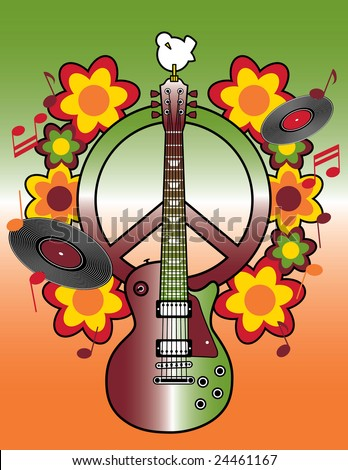 Celebrating the 40th Anniversary of the Woodstock Music and Art Fair. - stock photo