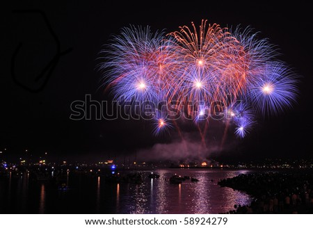 Celebration of Lights, Vancouver, Canada - stock photo
