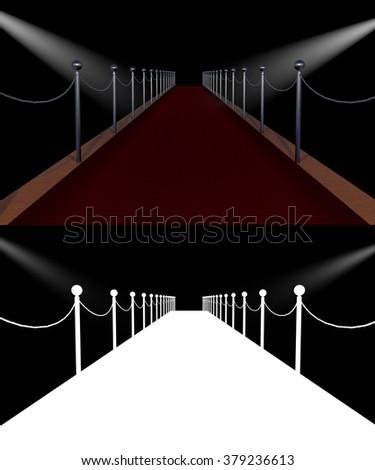 celebration red carpet - stock photo