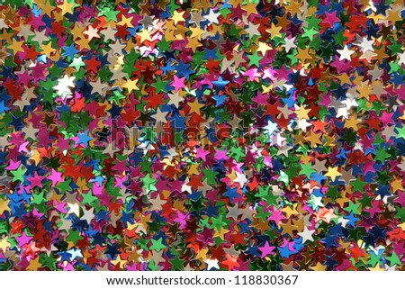 Celebration stars, for backgrounds or textures - stock photo