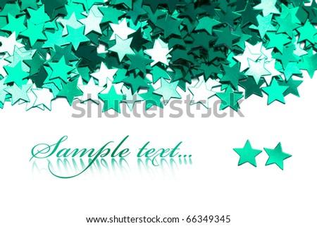 celebration stars on white background - stock photo