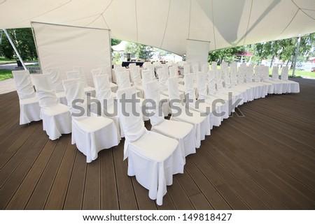 celebration tent - stock photo
