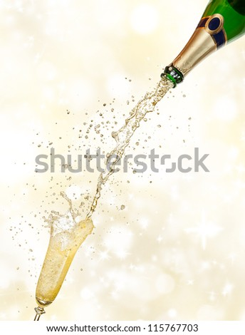 Celebration theme on shiny blur background - stock photo