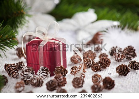 Celebration theme with christmas gifts. - stock photo