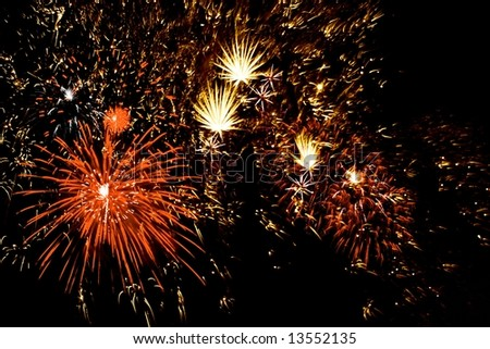 Celebratory firework. illustration - stock photo