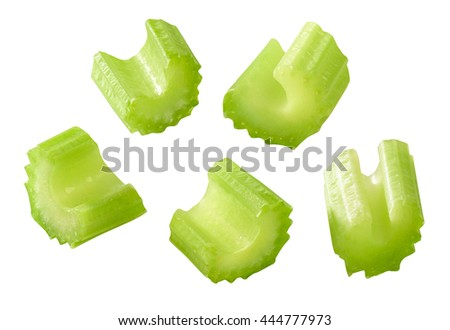 celery isolated - stock photo