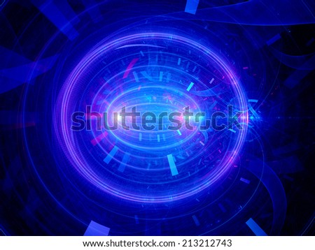Cell division, computer generated abstract fractal background - stock photo