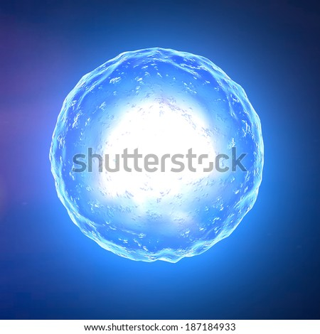 Cell nucleus, ovum, fertilization - stock photo