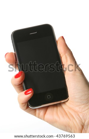 Cell Phone isoleted on white background - stock photo