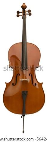 Cello - isolated on white - stock photo
