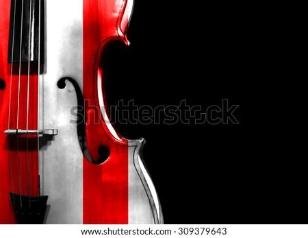 Cello on black background - stock photo
