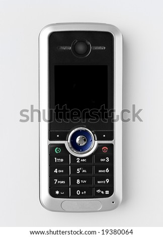 cellphone on a white background - stock photo