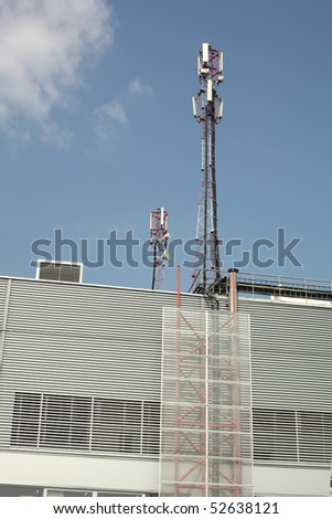 Cellular phone towers - stock photo