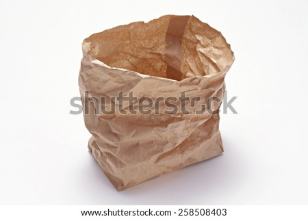Cement bag isolated on white background - stock photo