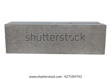 cement block on white background - stock photo