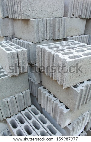 Cement bricks - stock photo