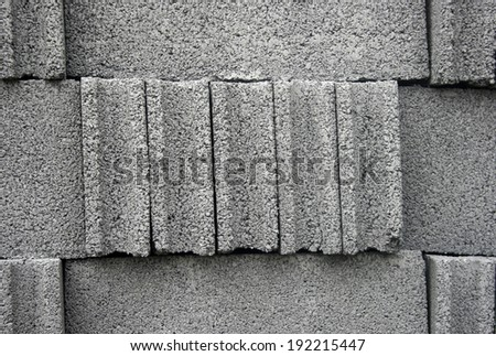 Cement bricks for background - stock photo