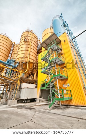 cement container in a harbor - stock photo