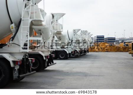 cement mixers - stock photo