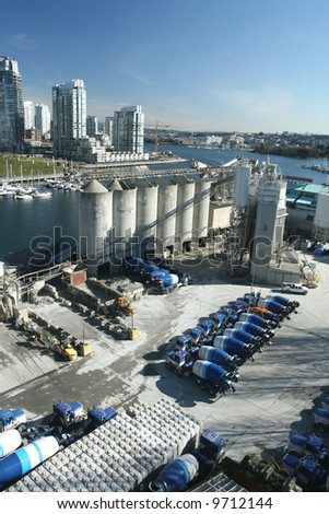 Cement Plant on Vancouver Waterfront - stock photo