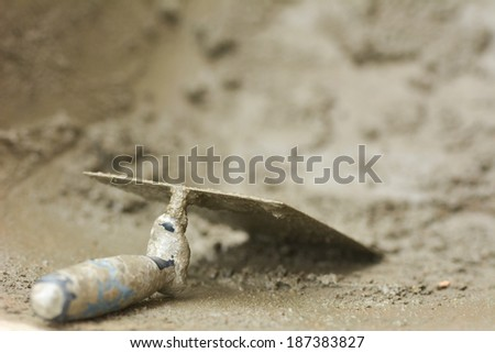 Cement trowel  - stock photo